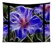 Blue Hibiscus Fractal Tapestry