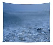 Blue Sea At Sunset Tapestry