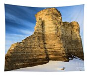 Blue Skies At Monument Rocks Tapestry