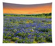Bluebonnet Sunset  Tapestry