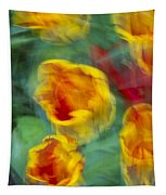 Blurred Tulips Tapestry