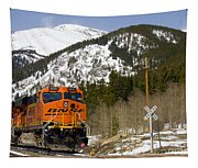 Bnsf Rolls Through Rollins Pass Colorado Tapestry