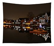 Boathouse Row Lights Tapestry