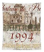 Bordeaux Blanc Label 2 Tapestry