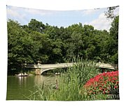 Bow Bridge Over The Lake Tapestry