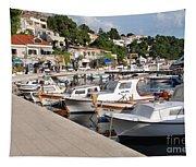 Brela Harbour Croatia Tapestry