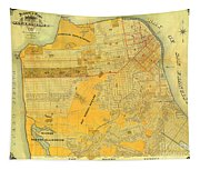 Britton And Reys Guide Map Of The City Of San Francisco. 1887. Tapestry