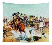 Bronc For Breakfast Tapestry