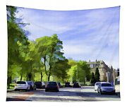 Cars On A Street In Edinburgh Tapestry