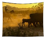 Cattle Drive 6 Tapestry
