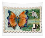 1 Cent Butterfly Stamp Tapestry