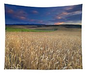 Cereal Fields At Sunset Tapestry