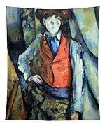 Cezanne's Boy In Red Waistcoat Tapestry