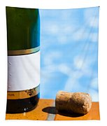 Champagne Bottle And Cork Tapestry
