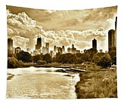 Chicago In Sepia Tapestry