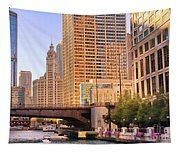 Chicago River Reflections Tapestry
