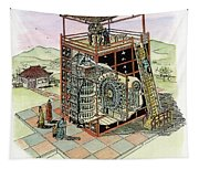 Chinese Astronomical Clocktower Built Tapestry