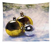 Christmas Balls Artistic Vintage Painting Tapestry
