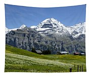 Classic Swiss Alps Tapestry