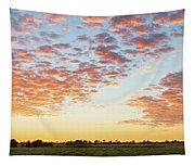 Clouds Over Landscape At Sunset Tapestry