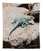 Collard Lizard  Tapestry