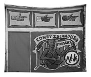 Coney Island Alive In Black And White Tapestry