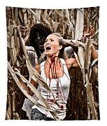 Corn Field Horror Tapestry