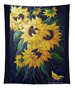 Dancing Sunflowers  Tapestry