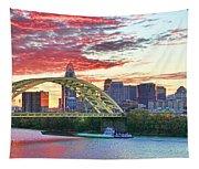 Daniel C Beard Bridge In Cincinati  B9925 Tapestry