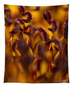 Bordeaux Red Stamens Tapestry