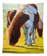 Dartmoor Ponies Painting Tapestry