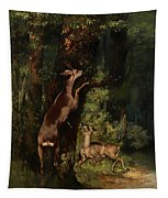 Deer In The Forest Tapestry