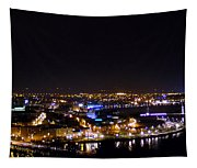Derry At Night Tapestry