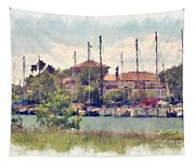 Detroit Yacht Club Tapestry