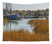 Dockside Paradise Tapestry