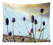 Dream Field Of Teasels Tapestry
