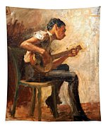 Eakins' Study For Negro Boy Dancing -- The Banjo Player Tapestry