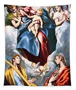 El Greco's Madonna And Child With Saint Martina And Saint Agnes Tapestry