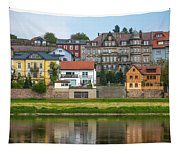 Elbe River Town Tapestry