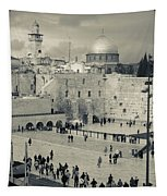 Elevated View Of The Western Wall Tapestry