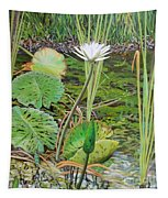 Emerald Lily Pond Tapestry