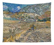 Enclosed Wheat Field With Peasant  Tapestry