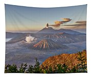 eruption at Gunung Bromo Tapestry