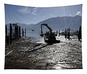 Excavator Clean A Harbor Tapestry