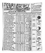 Family Almanac, 1874 Tapestry