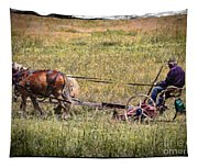 Farming With Horses Tapestry