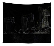 Financial District Of Singapore And View Of The Water Tapestry