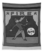 Fire Eater In Black And White Tapestry