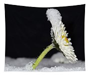 Flower With Snow Tapestry