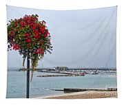 Flowers Along The Seafront Tapestry